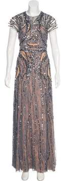 Jenny Packham Sequined Evening Dress