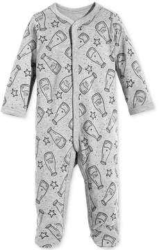First Impressions 1-Pc. Milk-Print Footed Cotton Coverall, Baby Boys & Girls (0-24 months), Created for Macy's