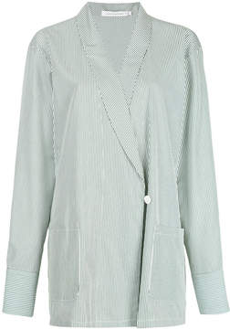 CHRISTOPHER ESBER oversized tuxedo wrap shirt