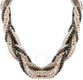 Bella Pearl 10 Row Braided Pearl Necklace