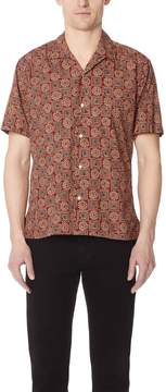 Gitman Brothers Short Sleeve Burgundy Batik Shirt