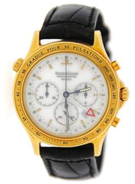 Jaeger-LeCoultre Jaeger Lecoultre 116.1.33 Reveil Heraion Chronograph 18K Yellow Gold Mens Watch