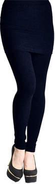 Angelina Navy High-Waist Skirt Leggings - Women