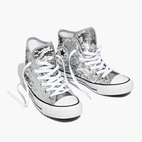 Madewell Converse® Chuck Taylor All Star High-Top Sneakers in Sequins