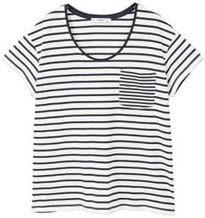MANGO Chest-pocket striped t-shirt