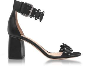 RED Valentino Black Studded Leather Heel Sandals