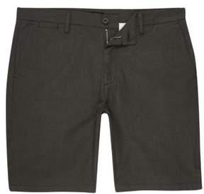 River Island Mens Green slim fit chino shorts