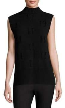 Derek Lam 10 Crosby Rib-Knit Wool Top