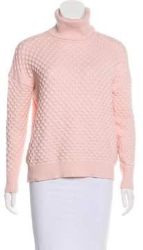 Barneys New York Barney's New York Patterned Turtleneck Sweater