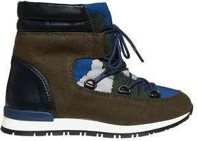 Stella McCartney Waterproof Nylon & Faux Suede Snow Boots