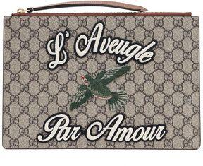 Gucci 'merveilles' Gg Supreme Large Pouch - MULTICOLOR - STYLE
