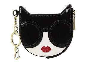 Alice + Olivia Evy Stace Cat Zip Pouch with Key Charm