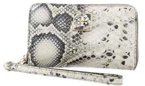 Tory Burch Embossed Leather Wristlet - ANIMAL PRINT - STYLE
