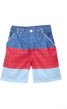 Andy & Evan Navy Striped Swim Shorts (Toddler & Little Boys)