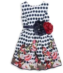 Imoga Little Girl's & Girl's Elizabeth Polkadot Dress