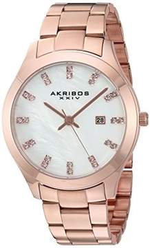 Akribos XXIV Mother of Pearl Dial Rose Gold-Tone Ladies Watch