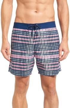 Mr.Swim Men's Plaid Board Shorts