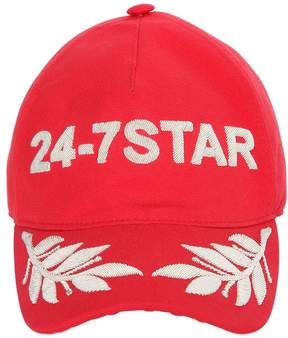 DSQUARED2 Embroidered Canvas Baseball Hat