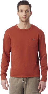 Alternative Apparel Weathered Wash Lightweight French Terry Pullover