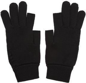 Rick Owens Black Knit Gloves