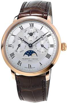 Frederique Constant Slimline Perpetual Silver Dial Automatic Men's 18 Carat Rose Gold Watch