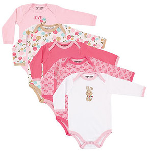 Luvable Friends Pink & White Bunny Bodysuit Set - Newborn & Infant