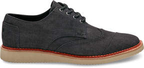 Toms Black Denim Men's Brogues