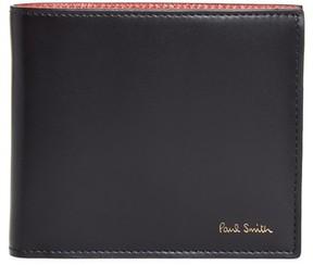 Paul Smith Men's Leopard Print Billfold Wallet - Black