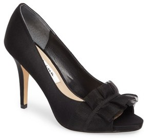 Nina Women's Raizel Ruffle Open Toe Pump