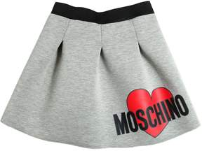 Moschino Logo Printed Doubled Jersey Skirt