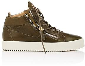 Giuseppe Zanotti Men's Leather Double-Zip Sneakers