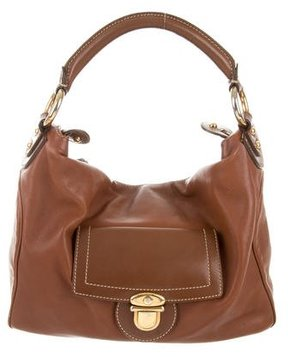 Marc Jacobs Grained Leather Hobo - BROWN - STYLE