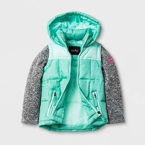 Stevies Toddler Girls' Puffer Jacket - Mint