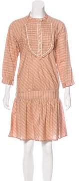 Edun Plaid Long Sleeve Dress