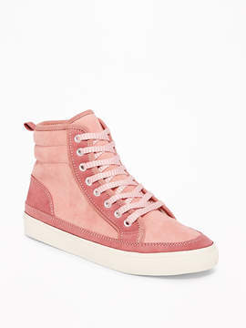 Old Navy Sueded Faux-Fur Lined High-Tops for Girls