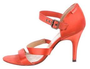 Pedro Garcia Satin Ankle Strap Sandals