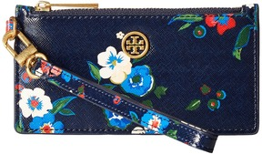 Tory Burch Parker Printed Zip Card Case Credit card Wallet - PANSY BOUQUET FLORAL - STYLE