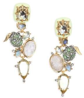 Alexis Bittar Elements Crystal& Gemstone Cluster Clip-On Earrings