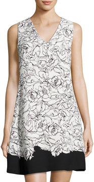 Cynthia Steffe Jillian Split-Back Dress, White/Black