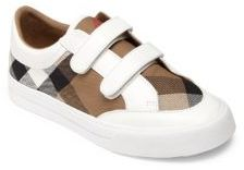Burberry Kid's Leather Slip-On Sneakers