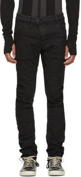 11 By Boris Bidjan Saberi Black Cotton Trousers