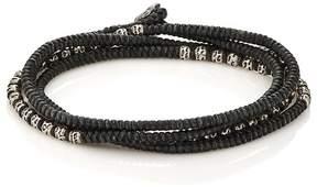 M. Cohen Men's Beads On Knotted Cord Wrap Bracelet