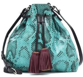 Isabel Marant Beeka embossed leather shoulder bag