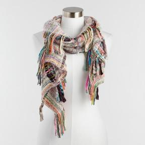World Market Multicolor Mixed Knit Scarf