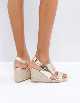 London Rebel Espadrille Wedge Sandal