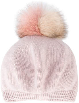 Miu Miu Fox Fur Pom Pom Hat