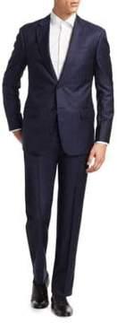 Armani Collezioni Slim-Fit Tonal Striped Wool Suit