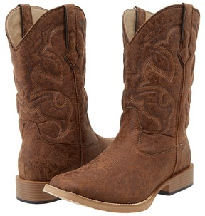 Roper Distressed Square Toe Cowboy Boot