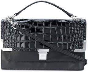 Sonia Rykiel Sonia By crocodile embossed clasp clutch
