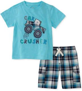 Kids Headquarters 2-Pc. Graphic-Print Cotton T-Shirt & Shorts Set, Little Boys